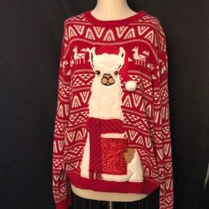 33DEGREES Women's Ugly Christmas SweaterSz XL 100%